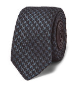 Prada 6cm Houndstooth Wool and Silk-Blend Tie
