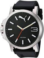 Puma Men's Ultrasize PU102941006 Leather Quartz Watch