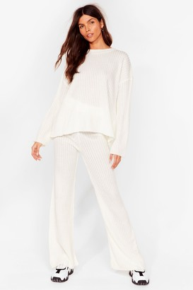 Nasty Gal Womens Give It Two Me Wide-Leg trousers Lounge Set - White - S