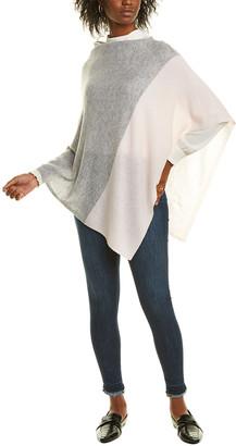 Forte Cashmere Colorblocked Cashmere Poncho