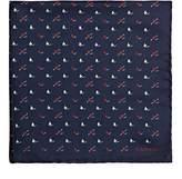 Lanvin Men's Mixed-Print Silk Pocket Square