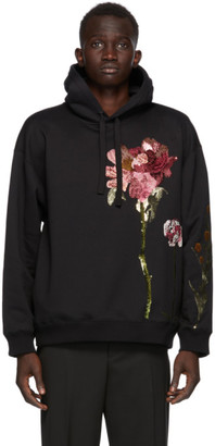 Valentino Black Inez and Vinoodh Edition Floral Sequin Hoodie