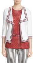St. John Women's 'Clair' Rever Collar Three Quarter Sleeve Jacket
