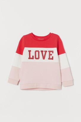 H&M Sweatshirt with Motif - Pink