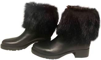 Valentino Rockstud Black Fox Boots
