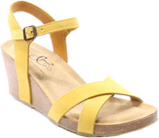 Bos. & Co. Lucca Leather Wedge Sandal