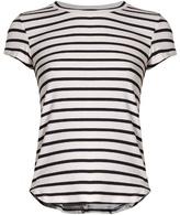 Frame Round-neck striped jersey T-shirt