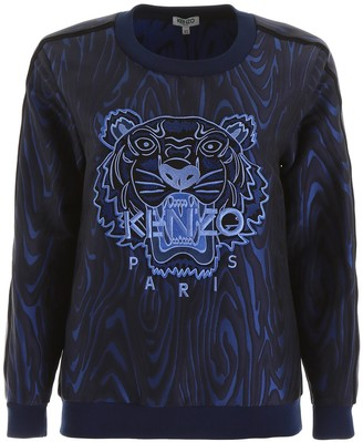 Kenzo Tiger Logo Jacquard Crewneck Sweatshirt