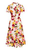 Naeem Khan Floral Printed A Line Dress