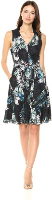Tahari by Arthur S. Levine Women's Printed Double Georgette Shift