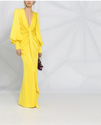 Alex Perry draped V-neck gown