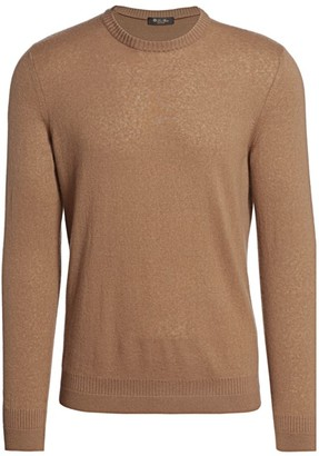 Loro Piana Skye Cashmere & Silk Crewneck Sweater