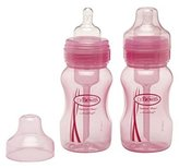 Dr Browns Dr. Brown's Dr Brown'S Wide Neck Bottles 2 X 240Ml - Pink