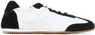 Loewe Two-Tone Monogram Leather Sneakers