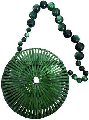Cult Gaia Luna Crossbody Green Plastic Handbags