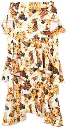 Ellery Printed Saloon Ruffle Skirt
