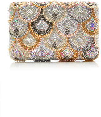 Judith Leiber Couture Scalloped Crystal Seamless Clutch