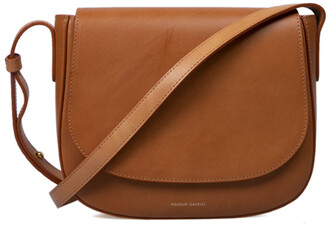 Mansur Gavriel Tan Leather Mini Crossbody Bag