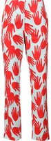 Sonia Rykiel hand print trousers - women - Cotton - 36
