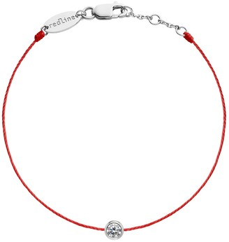 Redline Pure String Diamond Red String White Gold Bracelet