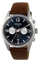 Kahuna Men's Quartz Watch with Blue Dial Chronograph Display and Brown PU Strap KCS-0011G
