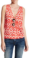 BB Dakota Hailey Printed Surplice Tank