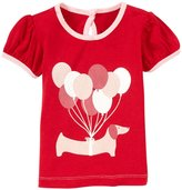 Kickee Pants Piece Print Puff Tee (Baby) - Balloon Pup-3-6 Months