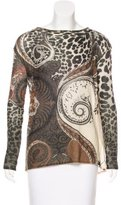 Etro Cashmere-Blend Printed Sweater