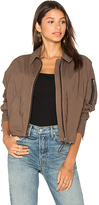 James Perse Batwing Bomber Jacket in Army