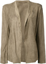 Salvatore Santoro - open-front jacket - women - Leather - 38