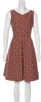 Akris Wool-Blend Abstract Print Dress