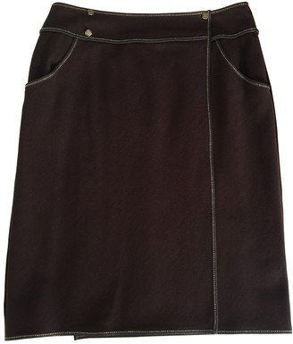 Fendi Brown Wool Skirt for Women Vintage