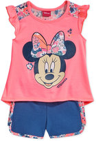 Disney Disney's® Minnie Mouse 2-Pc. Graphic-Print Tank Top & Shorts Set, Little Girls (2-6X)