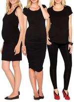 Angel Maternity Women's The Bumper Essential 4-Piece Maternity Starter Kit