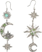 Roberto Cavalli Sun & Moon asymmetrical earrings