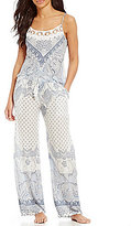 In Bloom by Jonquil Ashbury Crochet-Trimmed Paisley Strappy-Back Pajamas