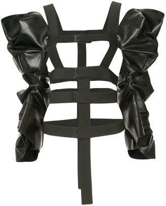 Comme Des Garçons Pre Owned PU harness sleeves