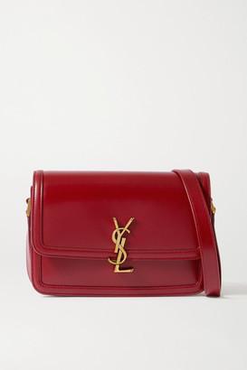 Saint Laurent Solferino Medium Leather Shoulder Bag - Red