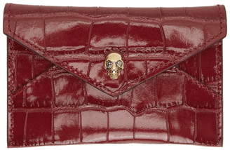 Alexander McQueen Red Skull Envelope Card Holder