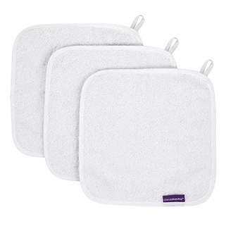 Clevamama Bamboo Baby Washcloth Set (3pk) - Bath Washcloths - Coral