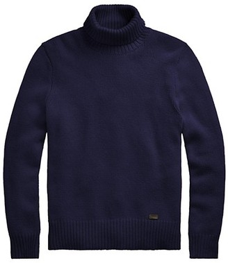 Polo Ralph Lauren Rib-Knit Wool Turtleneck Sweater