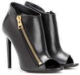 Tom Ford Open-toe Leather Ankle Boots