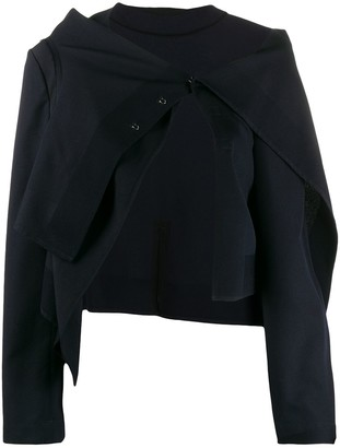 Comme Des Garçons Pre Owned 2000s Asymmetric Bolero Jacket