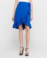 Express High Waisted Wrap Midi Skirt