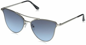 Vince Camuto VC903 Women's Metal Aviator Sunglasses with Textured Scroll Etching Brow Bar Temple Detail and 100% UV Protection 62 mm