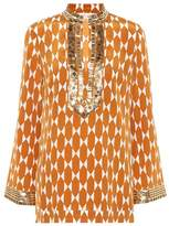 Tory Burch Tory silk tunic top