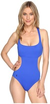 Polo Ralph Lauren St. Barts Solid Cut Outs Tank One-Piece Women's Swimsuits One Piece
