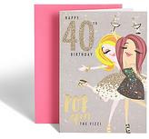 Marks and Spencer Dotty Daisy 40th Birthday Card