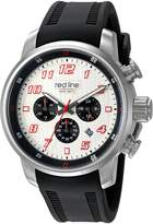 Redline Red Line Men's 'Topgear' Quartz Stainless Steel and Silicone Automatic Watch, Black (Model: RL-303C-02S-RDA)