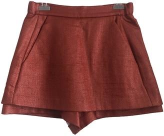 Maje Orange Synthetic Shorts